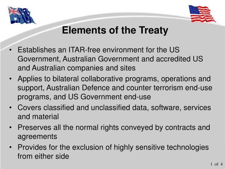 Elements of the treaty