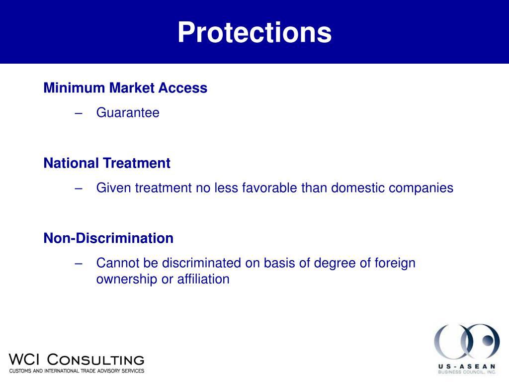 Minimum Market Access