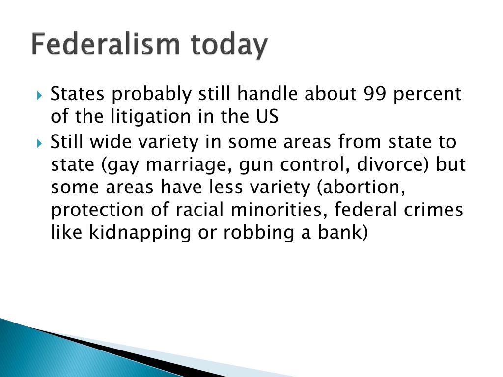 Federalism today