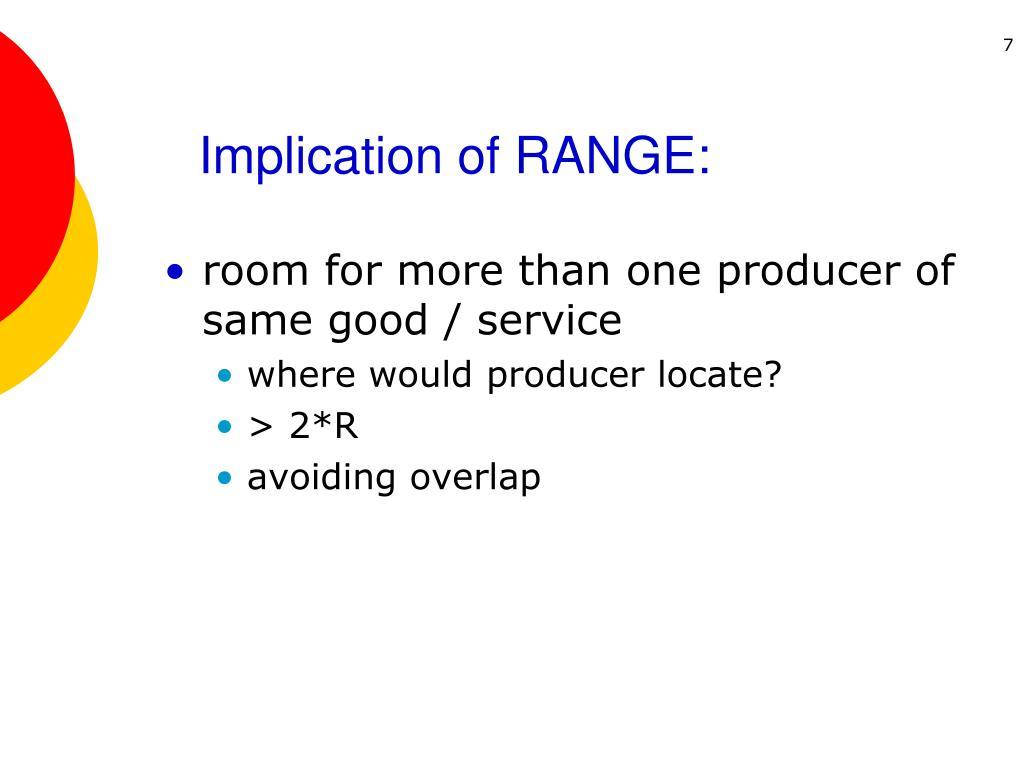 Implication of RANGE: