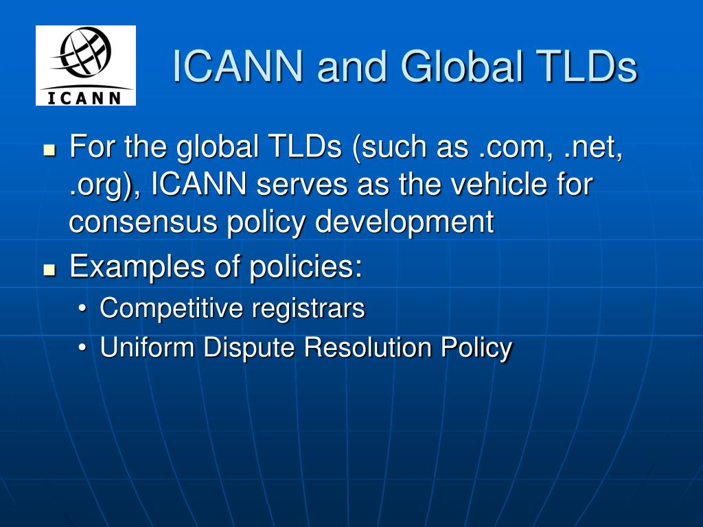 ICANN and Global TLDs
