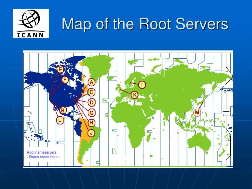 Map of the Root Servers
