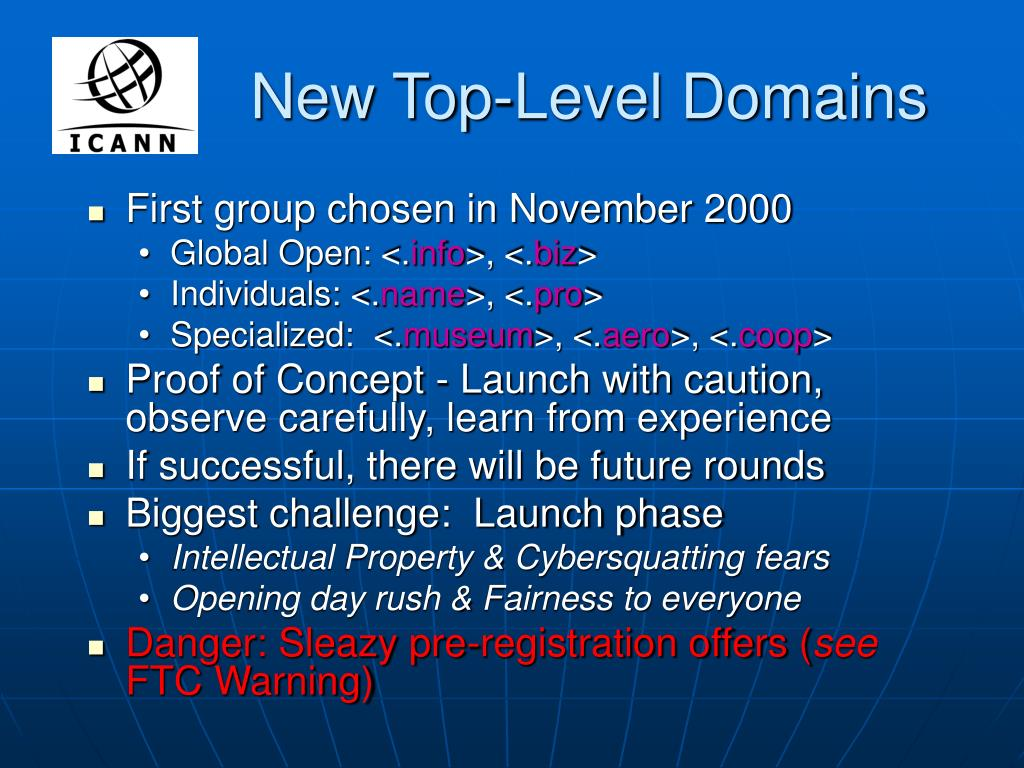 New Top-Level Domains