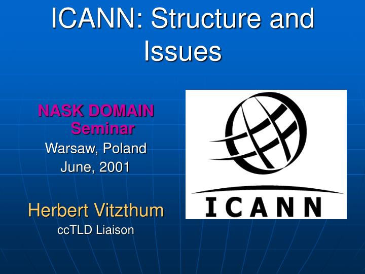 ICANN: Structure and Issues