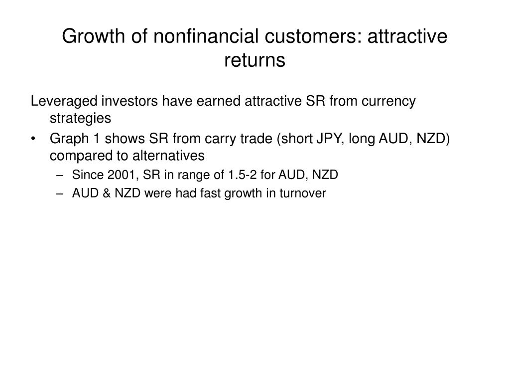 Growth of nonfinancial customers: attractive returns
