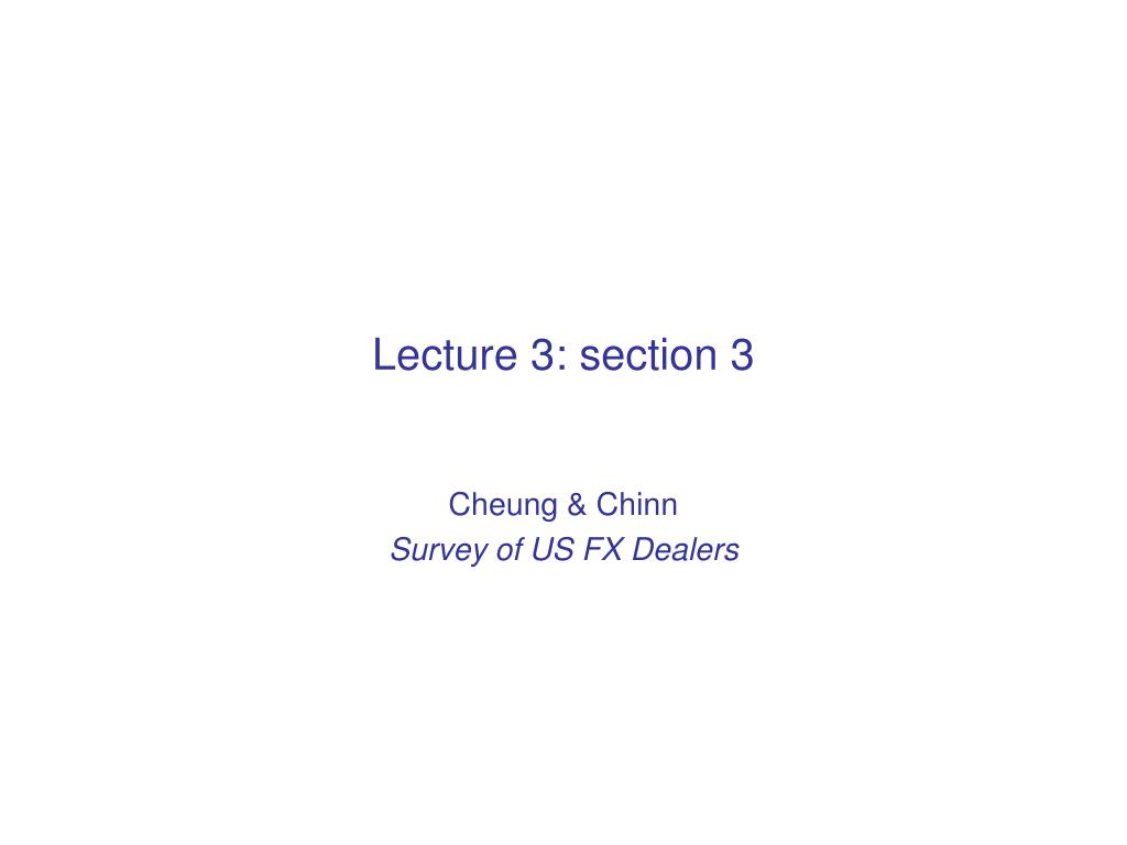 Lecture 3: section 3