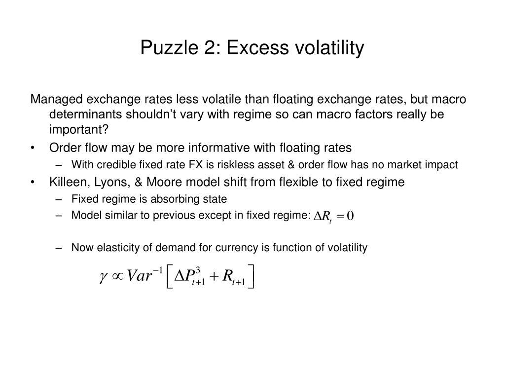Puzzle 2: Excess volatility