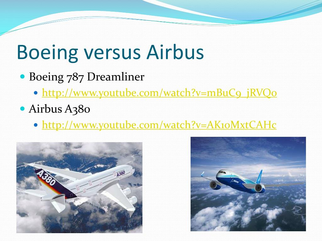 boeing versus airbus trade disputes Case study: boeing versus airbus: two decades of trade disputes the boeing-mcdonnell douglas merger as the two largest producers in the commercial aircraft industry, boeing and airbus have been in a long rivalry for over two decades.