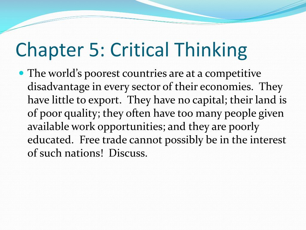Chapter 5: Critical Thinking