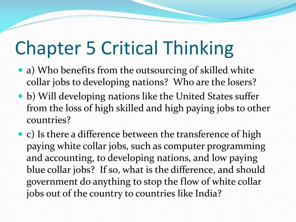 Chapter 5 Critical Thinking