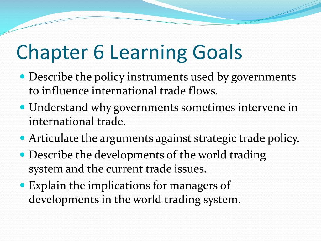 Chapter 6 Learning Goals