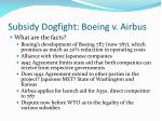 subsidy dogfight boeing v airbus