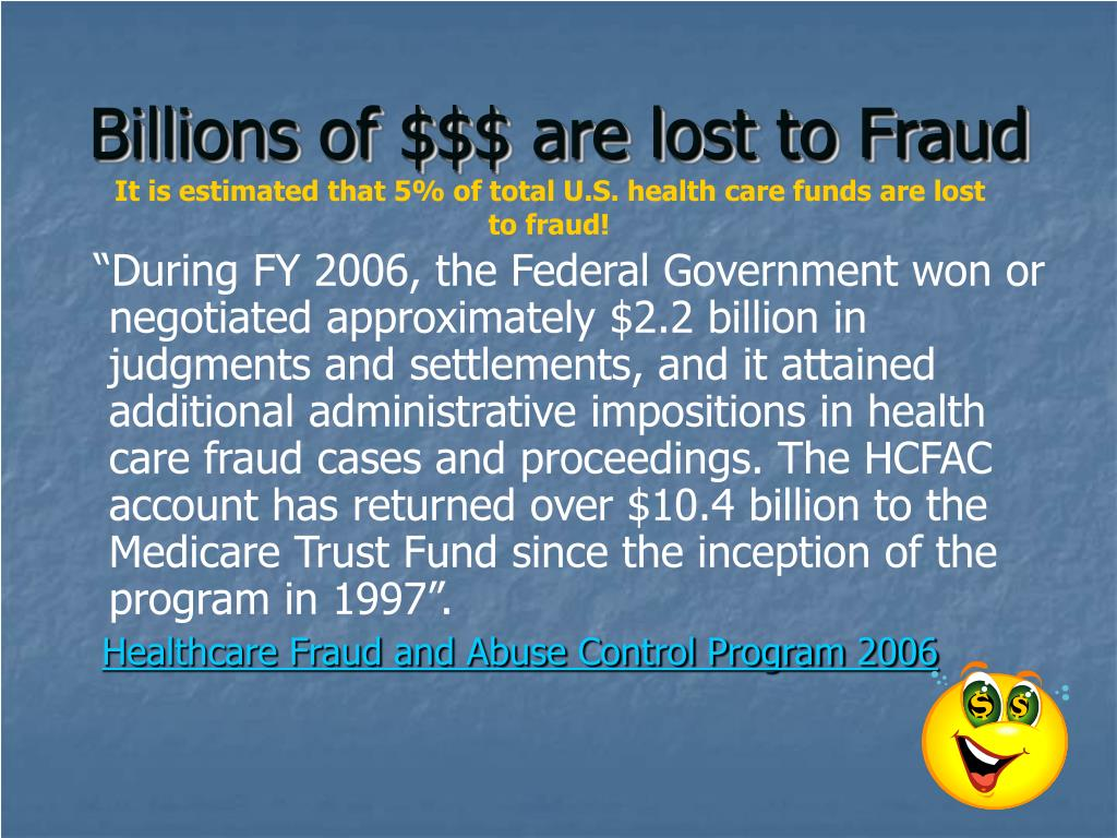 Billions of $$$ are lost to Fraud
