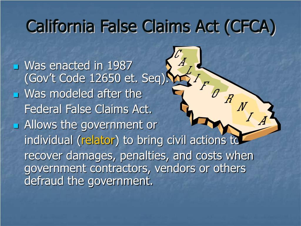 California False Claims Act (CFCA)