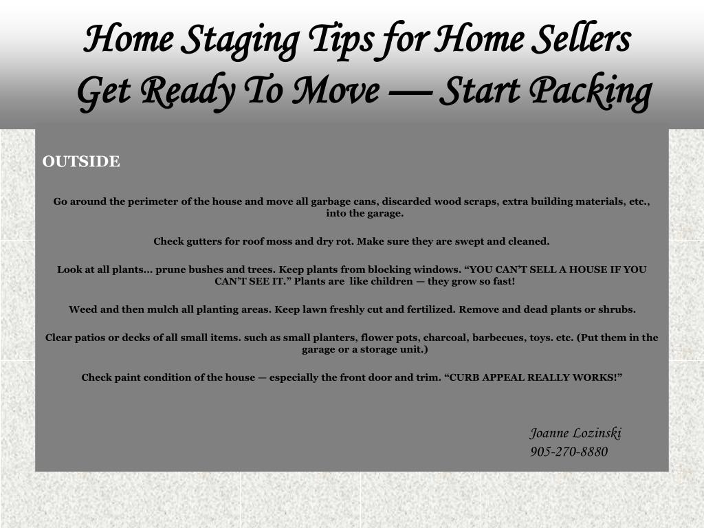 Home Staging Tips for Home Sellers