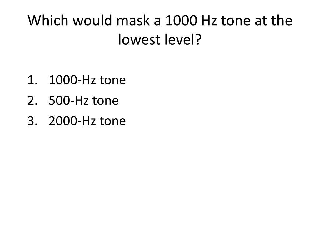 1000-Hz tone