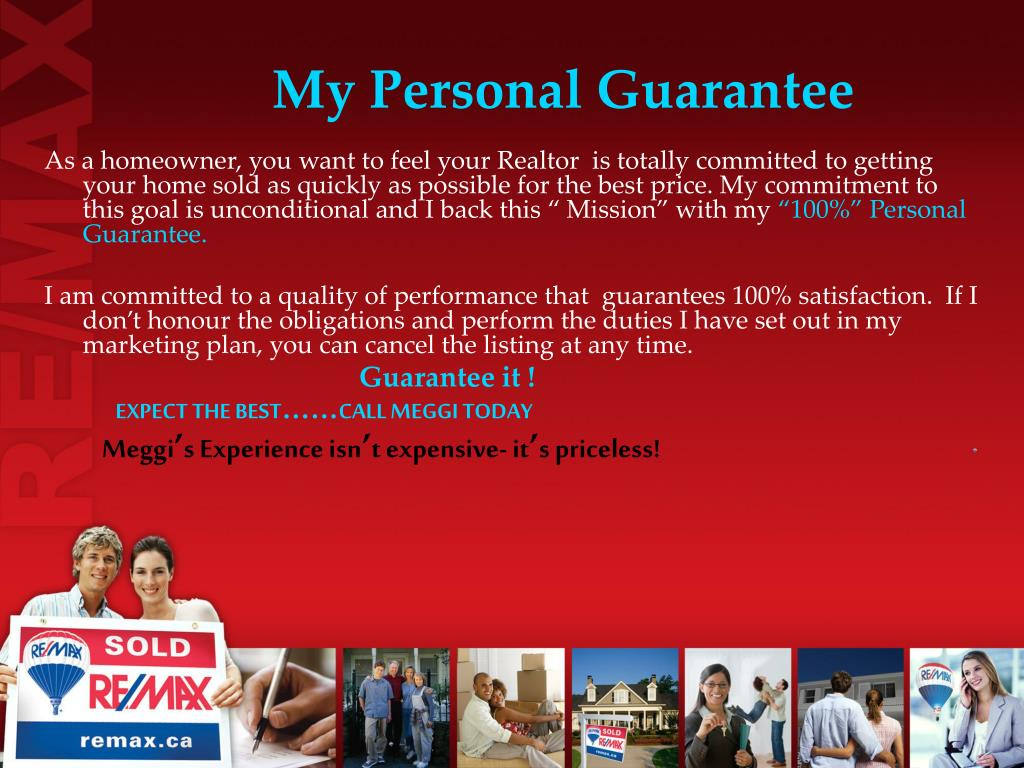 My Personal Guarantee