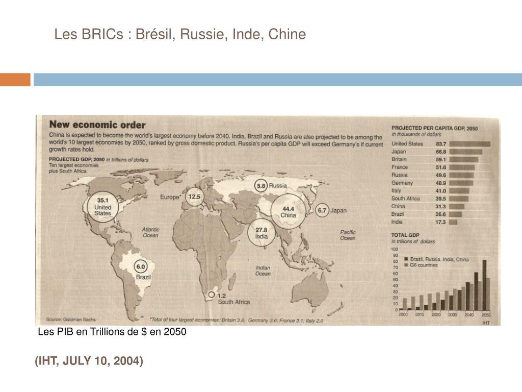 Les BRICs :