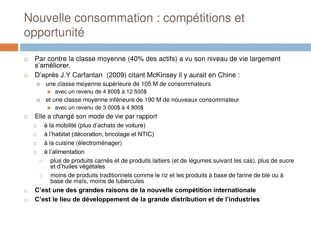 Nouvelle consommation : compétitions et opportunité
