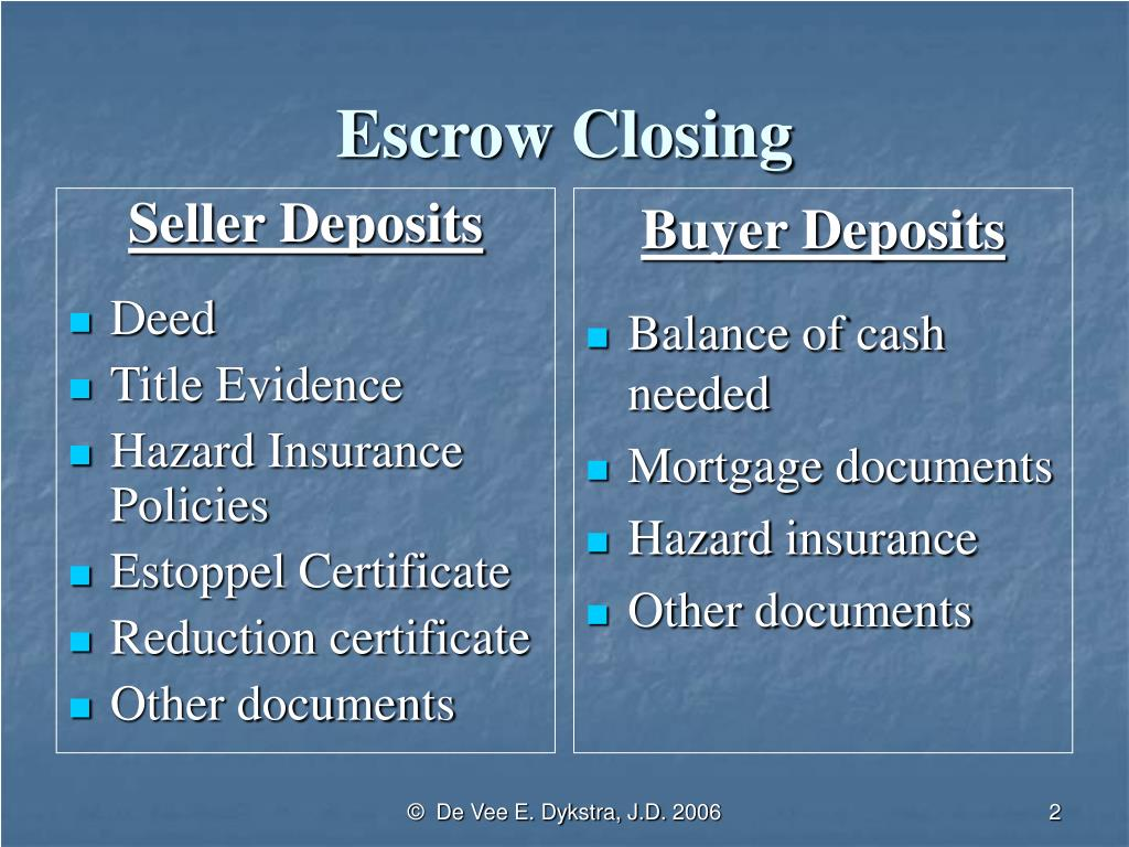 Seller Deposits