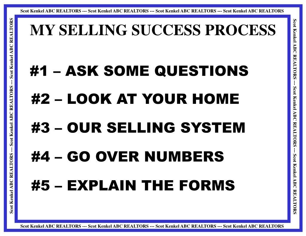 MY SELLING SUCCESS PROCESS