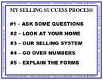 my selling success process