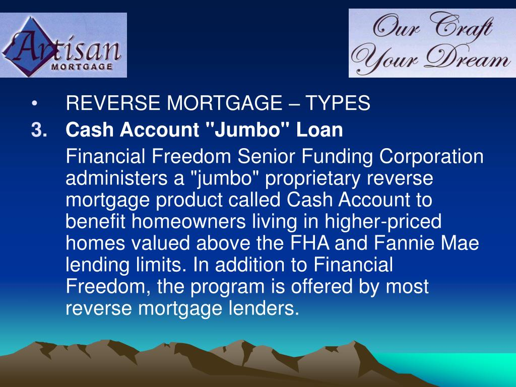 REVERSE MORTGAGE – TYPES