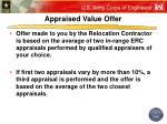 appraised value offer