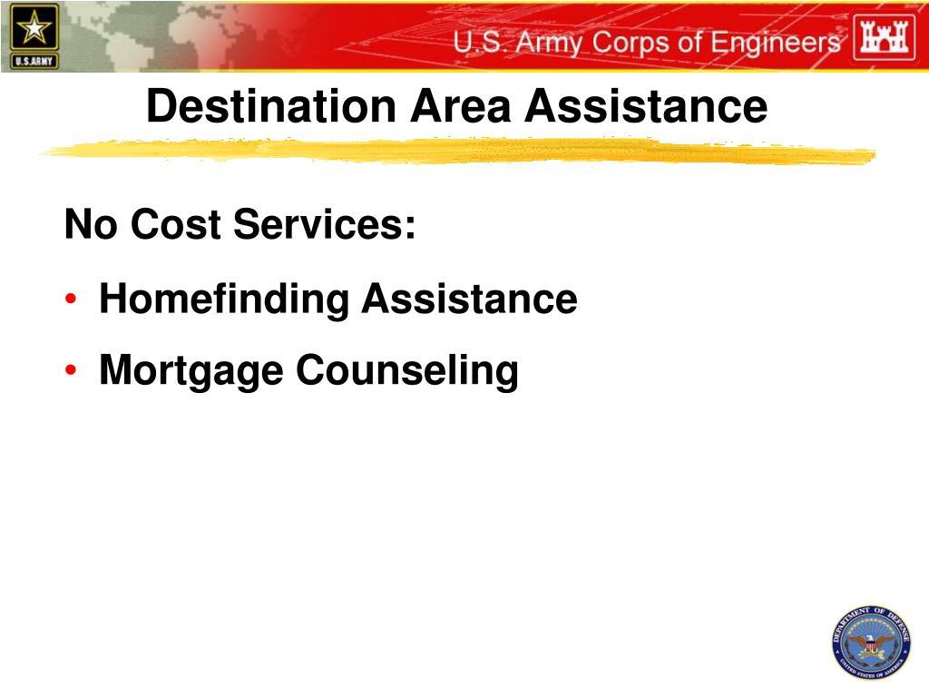 Destination Area Assistance