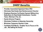 dnrp benefits