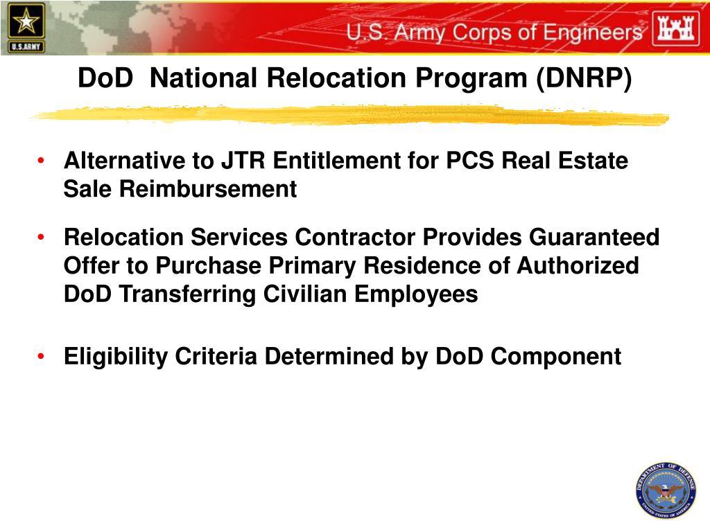 DoD  National Relocation Program (DNRP)