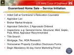 guaranteed home sale service initiation