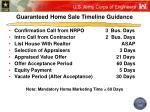 guaranteed home sale timeline guidance