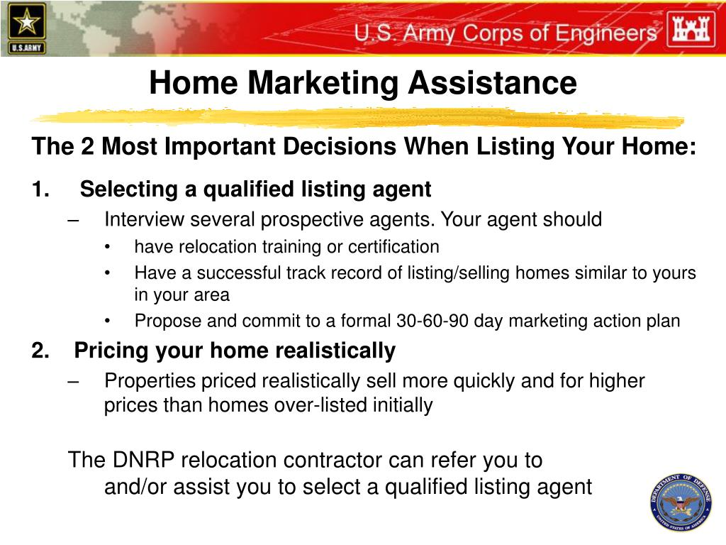 Home Marketing Assistance