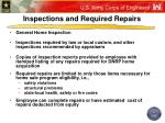 inspections and required repairs