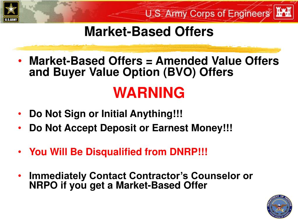Market-Based Offers