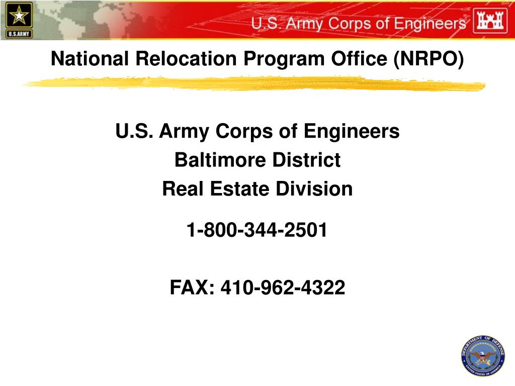 National Relocation Program Office (NRPO)
