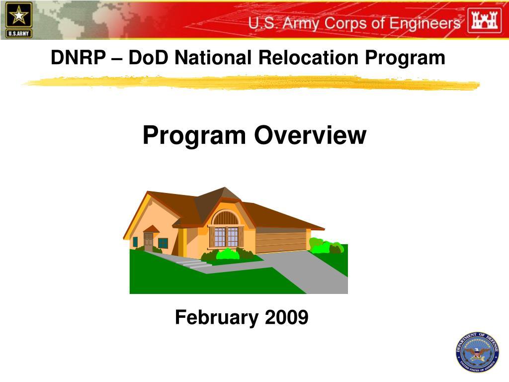 DNRP – DoD National Relocation Program
