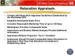 relocation appraisals