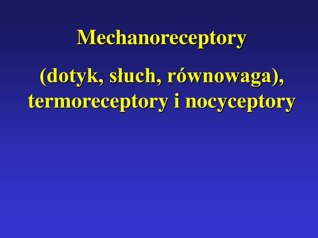 Mechanoreceptory