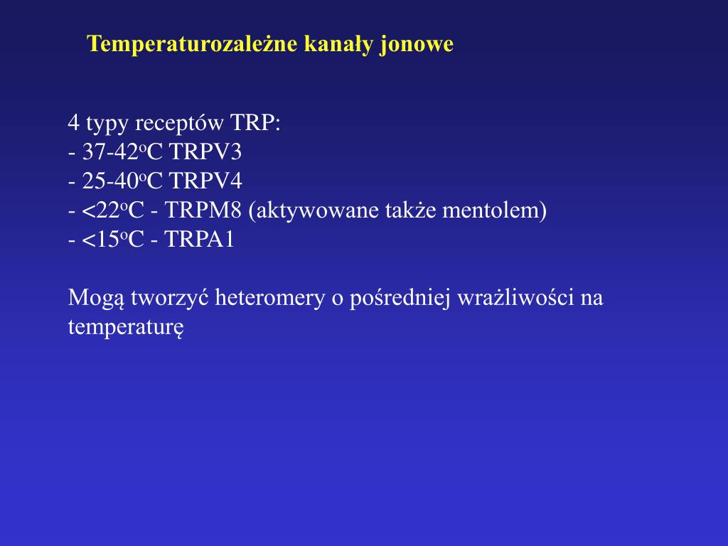 Temperaturozależne kanały jonowe