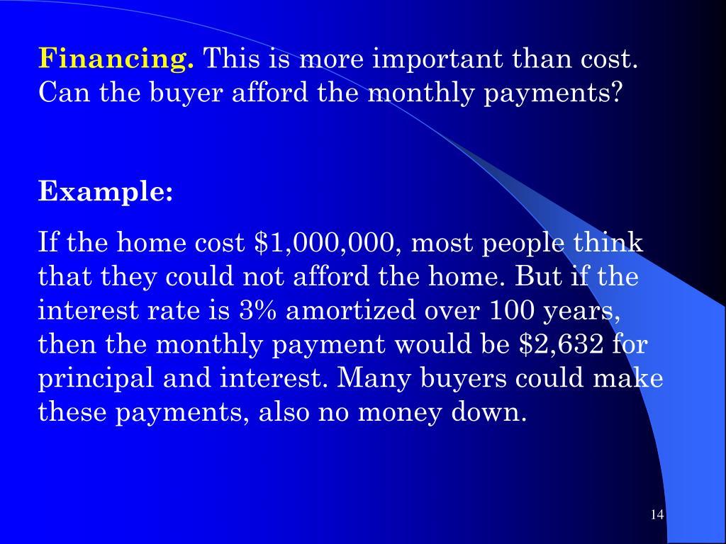 Financing.