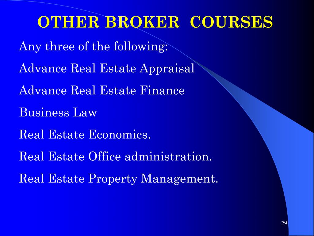 OTHER BROKER  COURSES