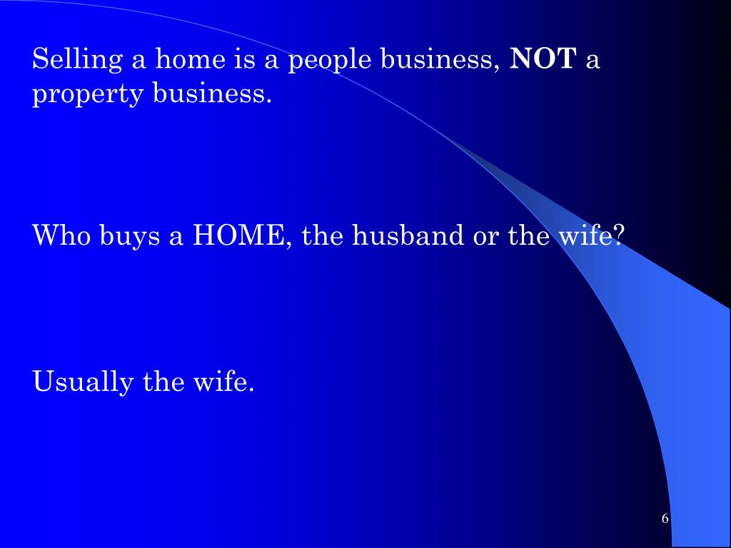 Selling a home is a people business,