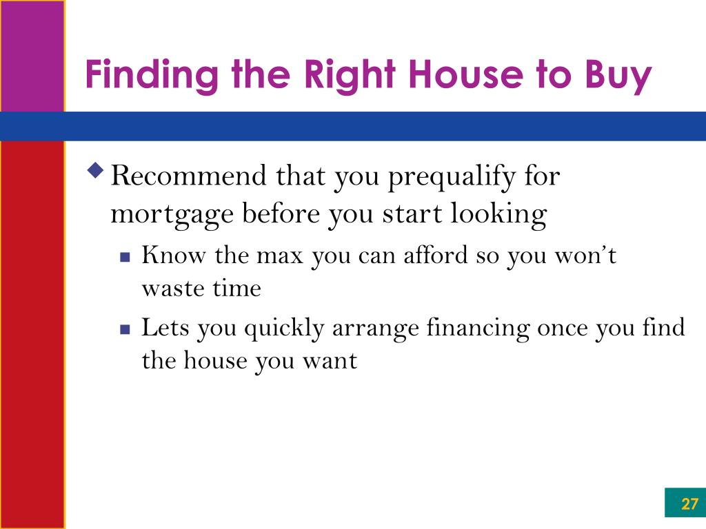Finding the Right House to Buy