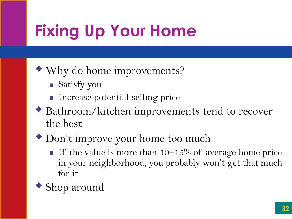 Fixing Up Your Home