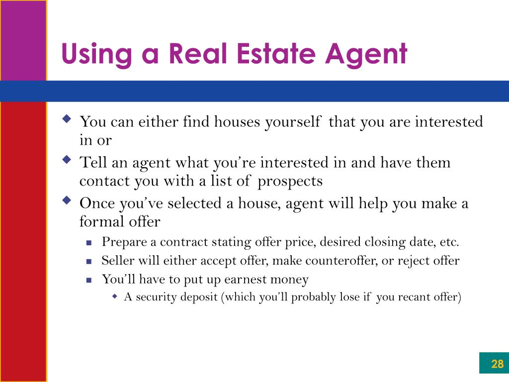 Using a Real Estate Agent
