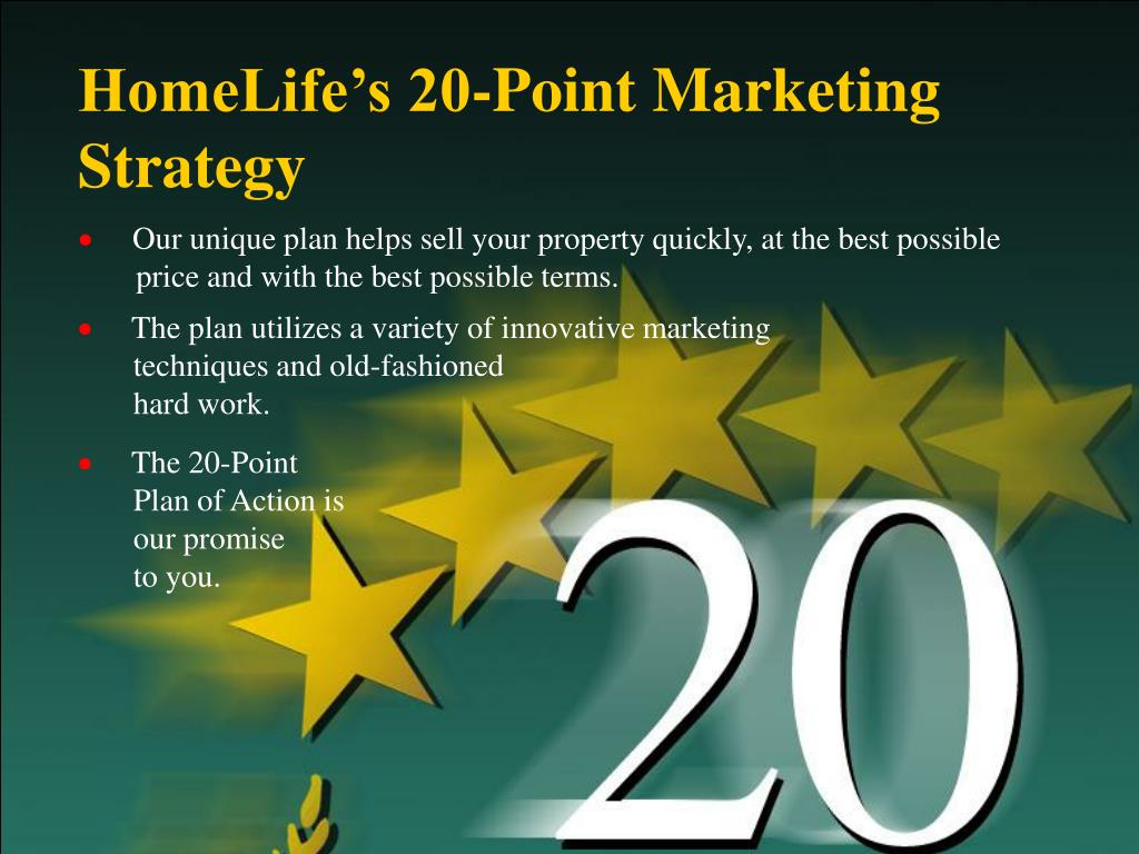 HomeLife's 20-Point Marketing