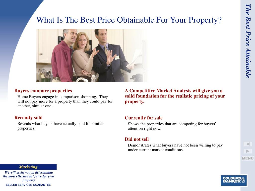 Buyers compare properties