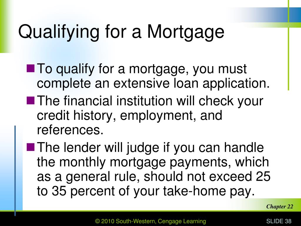 Qualifying for a Mortgage